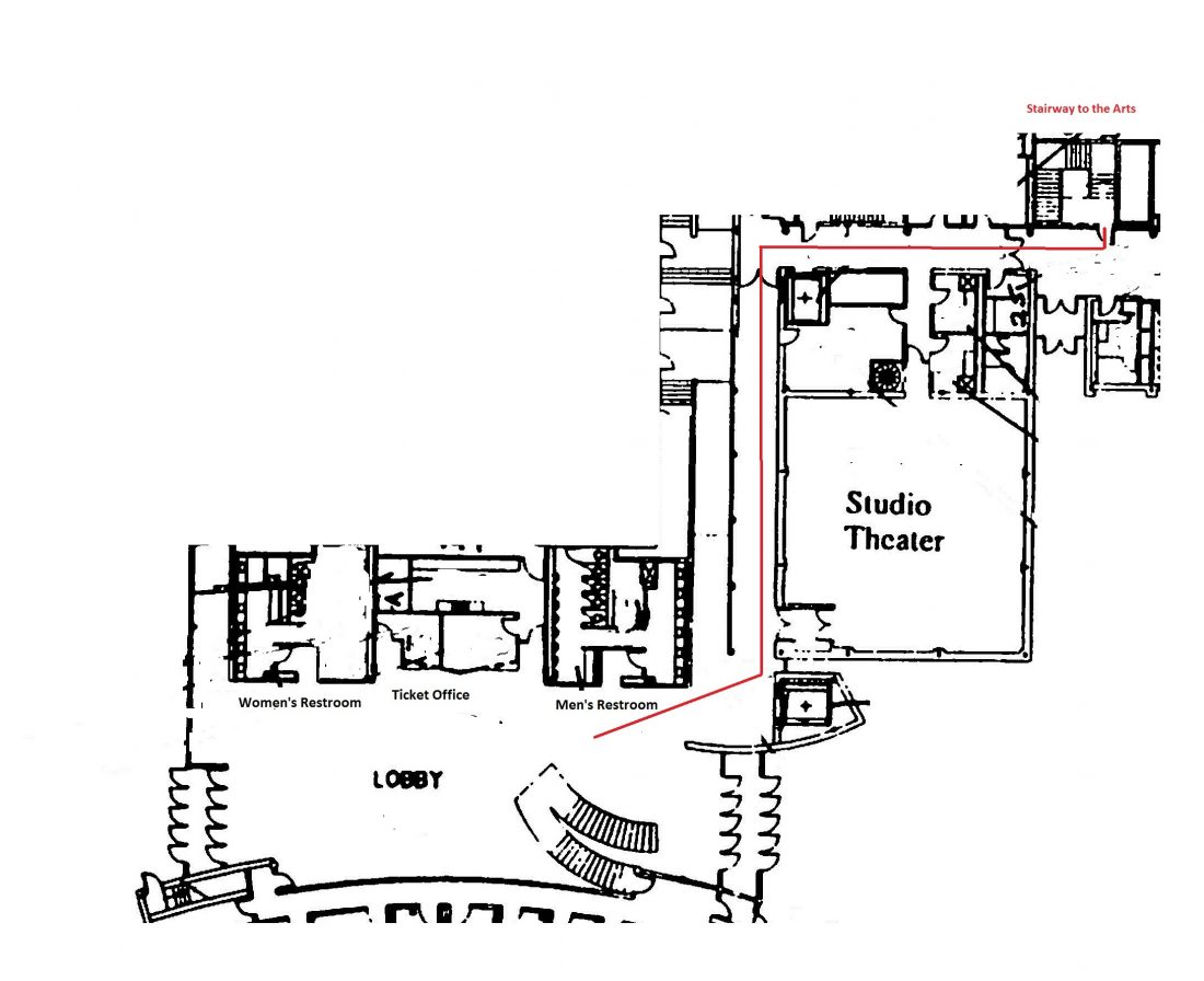 map to stairway to the arts